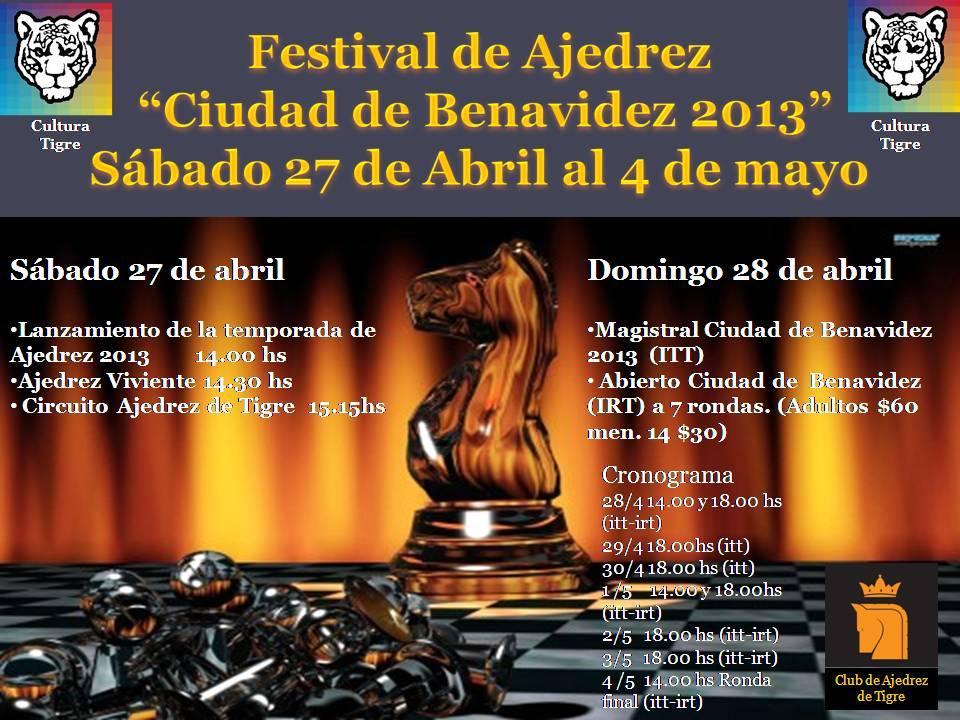 afiche Festival Benavidez
