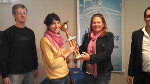 Betania Lozano, ganadora del IRT Monte Caseros