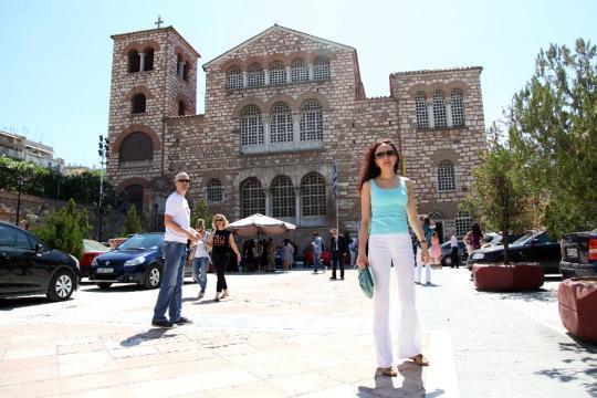 Firuza, esposa de Rustam Kazimzhanov, de paseo durante el día libre