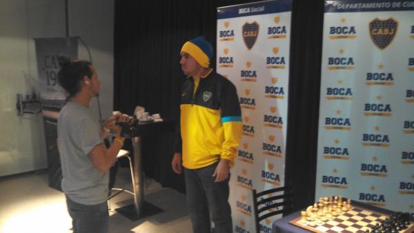 Kevin Paveto, pasión por Boca Juniors y por el ajedrez