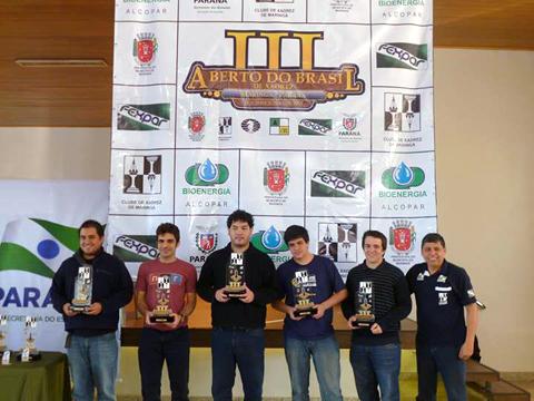 Podio del Abierto de Brasil 2013 en Maringá