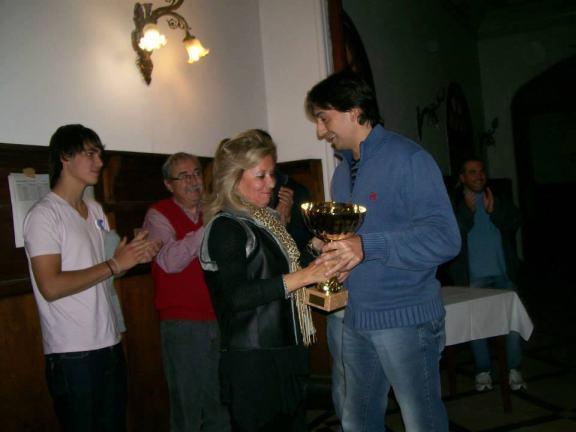 Franco Betancor, ganador del torneo