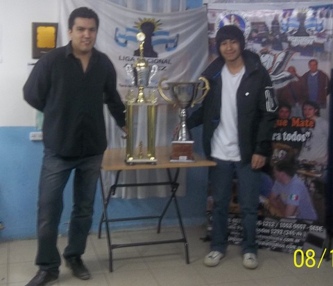 Norberto Yacante y Darío Jurado, campeón y subcampeón