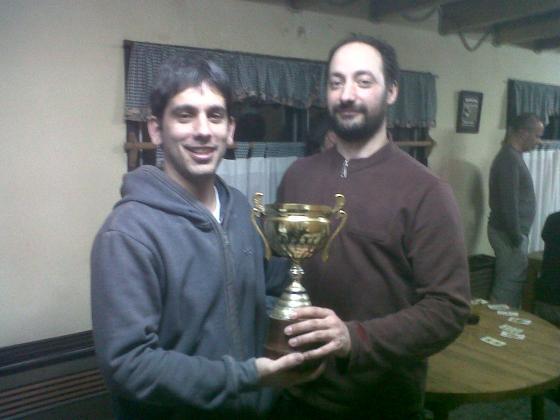 Ramiro Lopez (der.) junto al AI Leandro Plotinsky