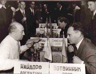 Botvinnik vs Najdorf, en 1956