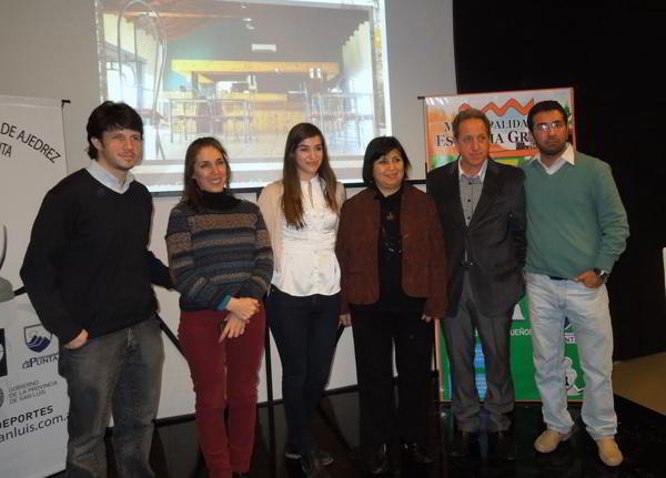 Diego Flores, Laura Cuffini, Cintia Ramírez, Beatriz Liendro, Mario Petrucci y Gustavo Magallanes