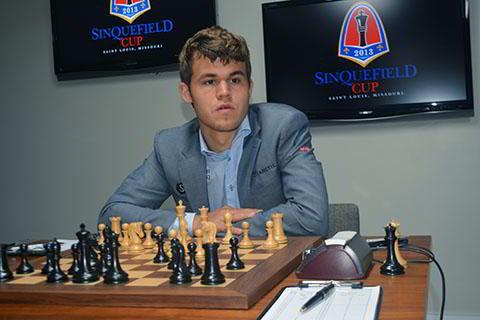 Magnus Carlsen en la Sinquefield Cup