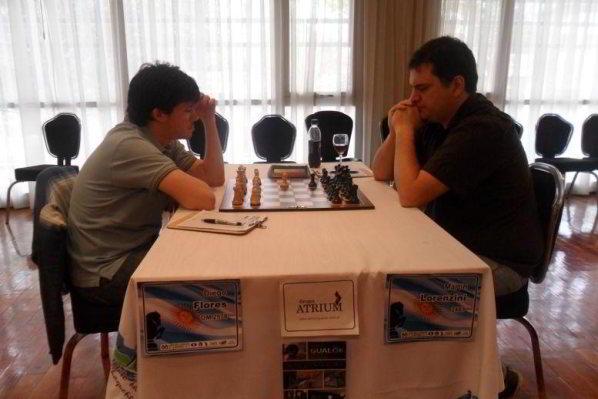 Diego Flores vs Martin Lorenzini, por la 9na ronda del Campeonato Argentino 2013