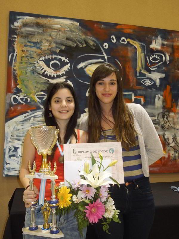 Florencia Fernandez, campeona 2013 junto a Cintya Ramirez