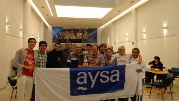 Obras AySA, campeón de la Liga Nacional Superior por Equipos 2013
