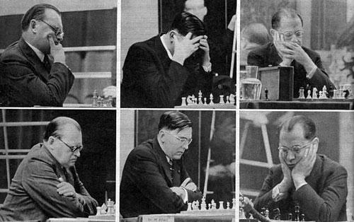Participantes del torneo de AVRO (Holanda) 1938
