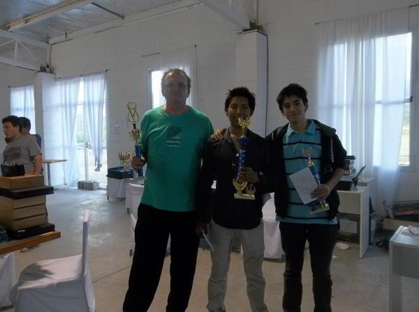 Premiados del Abierto: Tosutti (2do) Quenallata (1ro) y Palu (3ro)