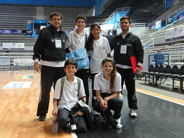 El equipo argentino en los Juegos Sudamericanos Escolares 2013