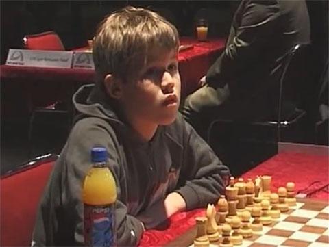Magnus Carlsen cuando niño