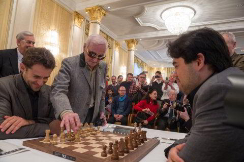 Aronian frente a Nakamura, inspirado por uno de sus ídolos: el cantante francés Charles Aznavour