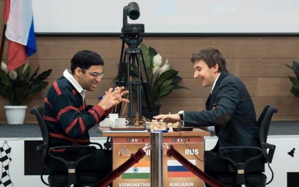 Anand aguantó los embates de Karjakin y ganó el Torneo de Candidatos 2014