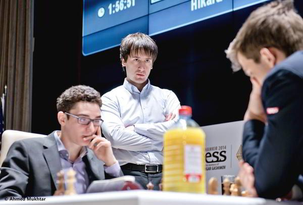 Duelo decisivo: Carlsen vs Caruana. Radjabov observa.