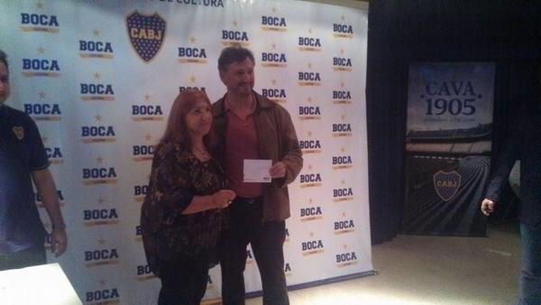El GM Ariel Sorín recibiendo el 1er premio