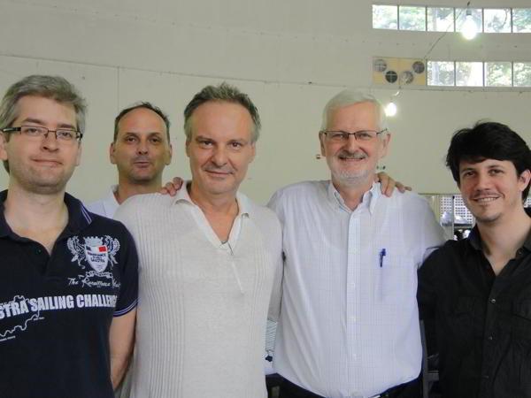 Vescovi, Milos, Van Riemsdijo, Flores: el equipo campeón (foto: HCVR en Facebook(