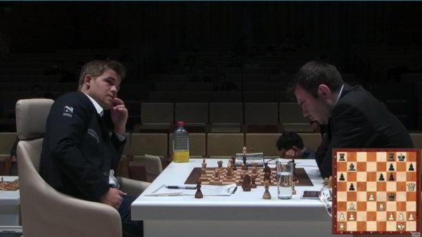 Carlsen ganó una buena partida frente a Mamedyarov