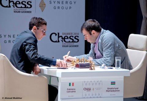 Mamedyarov, con blancas, derrotó al italiano Caruana