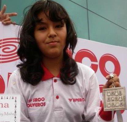 Mitzy Caballero, de Perú (13 años), campeona Sub 20 femenina
