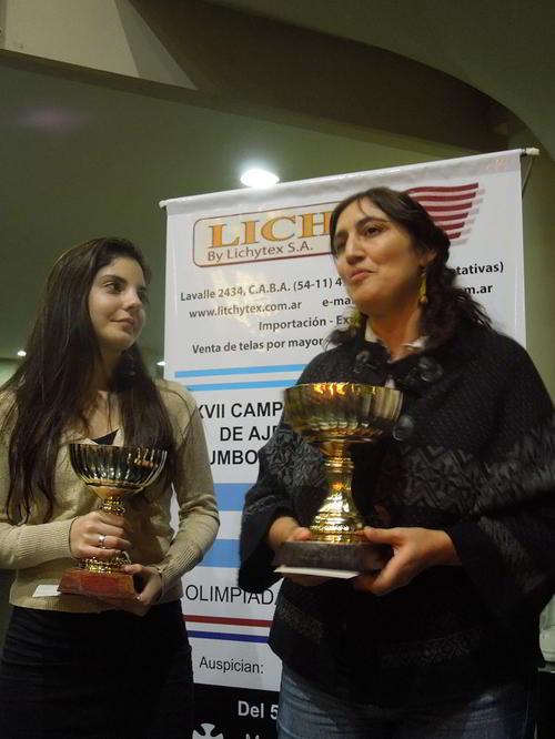 Florencia Fernandez y Claudia Amura, subcampeona y campeona 2014