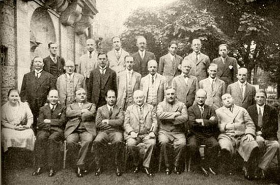Los participantes del torneo de Carsbad 1929