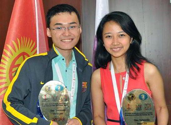 Los nuevos campeones en las secciones absoluta y femenina: Yu Yangyi (2667) e Irene Sukandar Kharisma (2319)