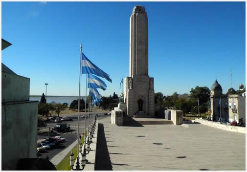 El monumento a la bandera nacional, en la ciudad de Rosario