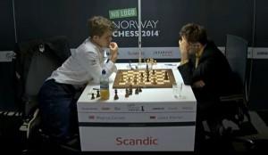 Magnus Carlsen venció a Aronian, pero por momentos, no lo pasó bien