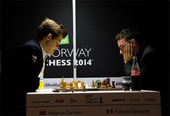 Carlsen y Caruana se sacaron chispas, pero al final fue empate