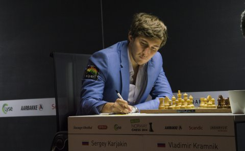 Sergey Karjakin, vencedor del Norway Chess 2014