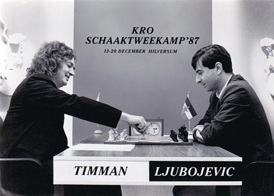 Timman y Ljubojevic, match de 1987 en Hilversum