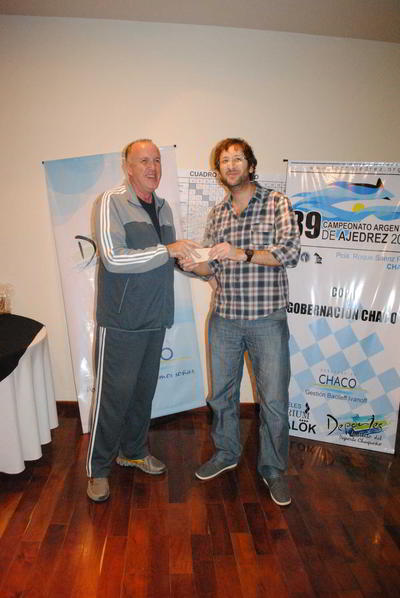 Raul Bittel junto a Ruben Felgaer, campeón argentino 2014