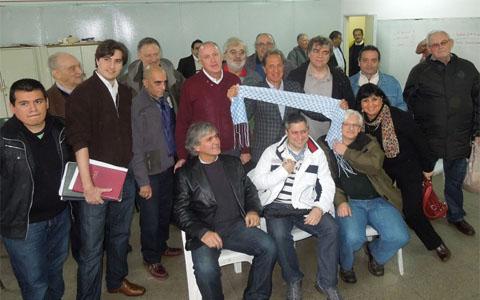 Junta Directiva de la federacion Argentina de Ajedrez, electa el 5 de Julo en la Asamblea realizada en  el Club Ferro Carril Oeste, a la que asistieron mas de 60 personas del ambiente ajedrecistico nacional