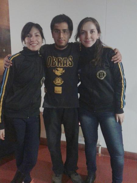 Los representantes de Obras Aysa: Betania Lozano, Alex Cuevas y Paola Guzman