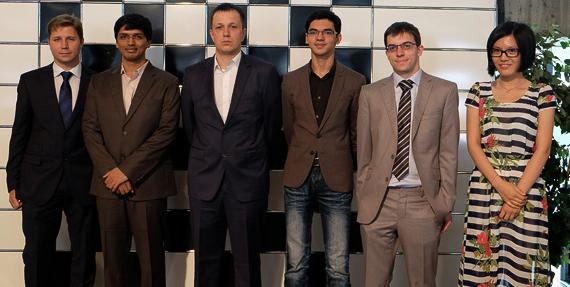 Participantes del Magistral de Biel 2014