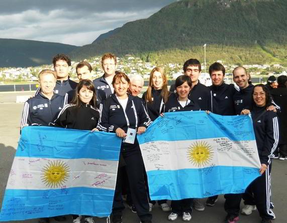 La delegación argentina en Tromso, Noruega