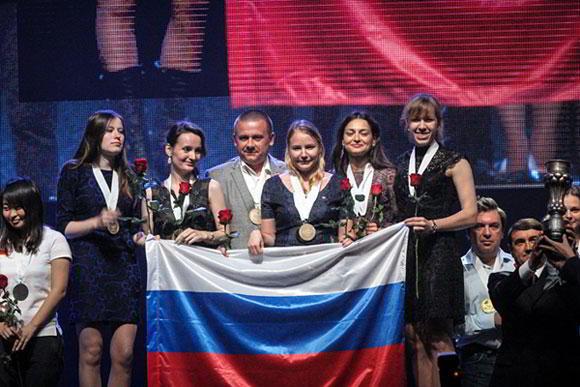 Oro para Rusia en el torneo femenino.