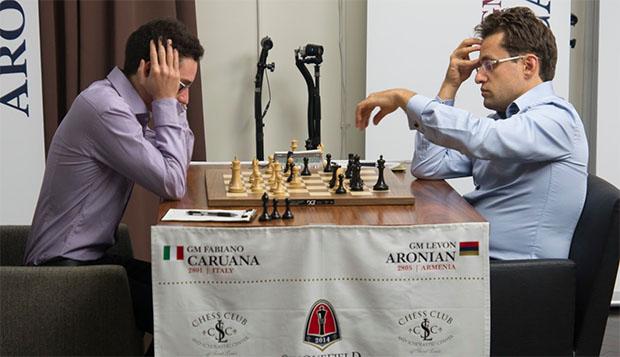 Caruana sigue su camino de victorias : esta vez la víctima fue Aronian