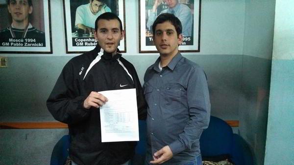 Carlos Obregon, flamante GM, junto al AI Leandro Plotinsky