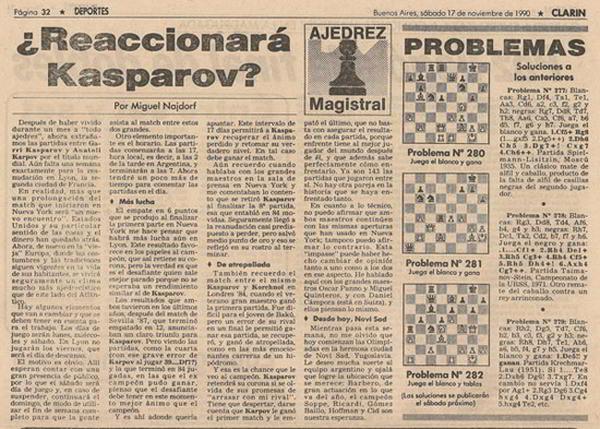 Clarin-17-noviembre-1990-Kasparov-Karpov-pre-Lyon
