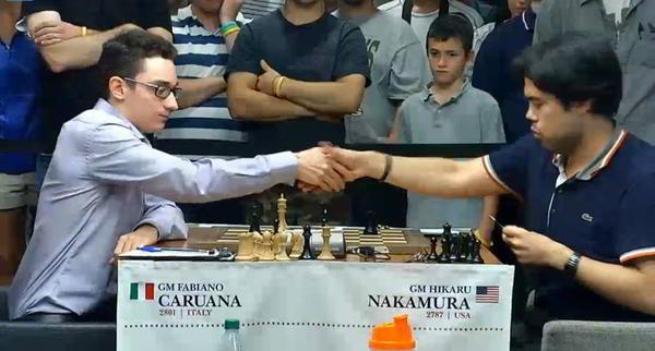 Caruana venció a Nakamura y lleva 5 en 5