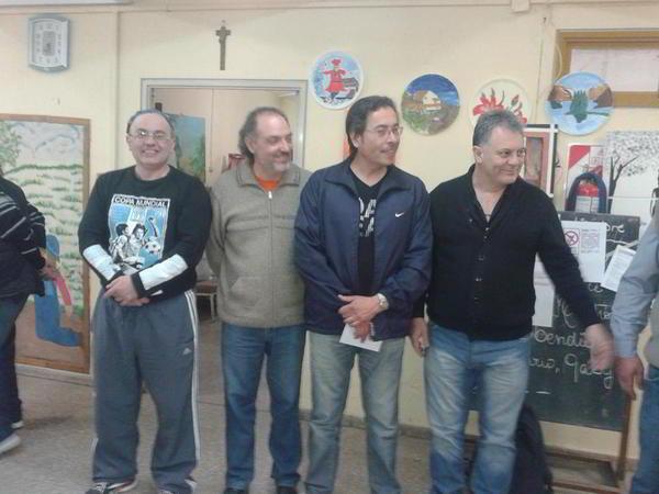 Mosconi, Soppe y Gimenez junto al Int.Municipal Favio Guaschino