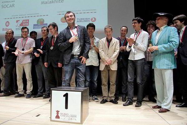 Shakhriyar Mamedyarov, del orgulloso equipo ganador, Socar (Azerbaiyán)