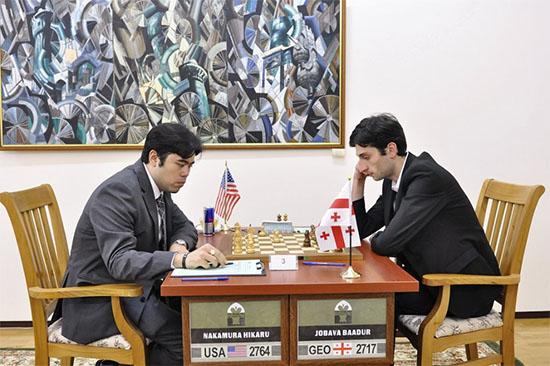 Nakamura venció a Jobava en la 1ra ronda