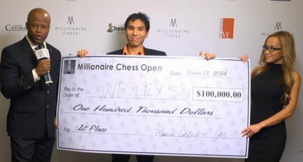 Wesley So, ganador del premo de 100 mil dólares