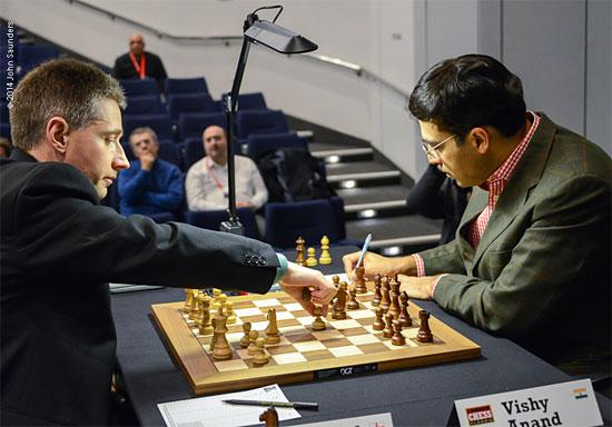 Anand venció a Adams en la última ronda y quedó 1ro por desempate técnico