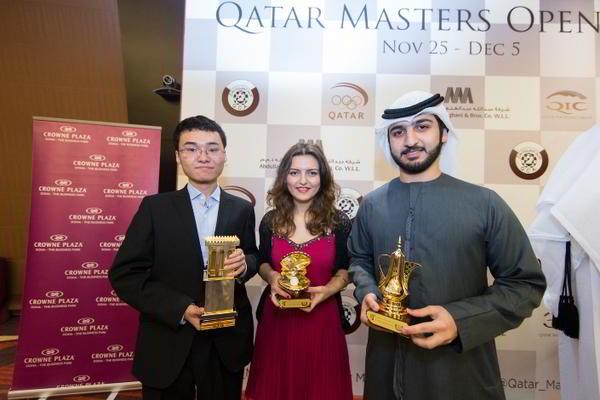 Yu Yangyi, Bela Khotenashvili y Saleh Salem (mejor árabe clasificado)
